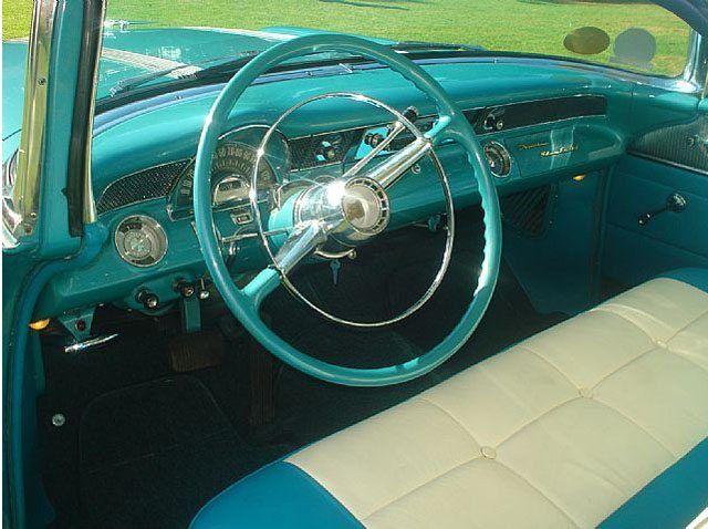 1955 Pontiac Safari interior