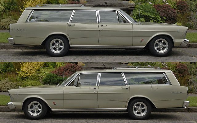 1966 Ford Galaxie Country Sedan Station Wagon Side View