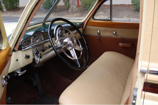 1951 Pontiac Chieftain Station Wagon Interior 9
