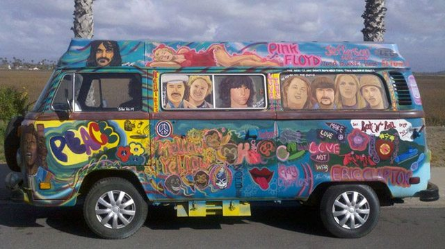 the gallery for volkswagen bus hippie. Black Bedroom Furniture Sets. Home Design Ideas